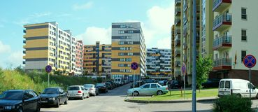 Vilnius today. New buildings at pasilaiciai. Stock Photo