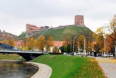 Vilnius torn av Gediminas, symbol av Vilnius Royaltyfri Fotografi