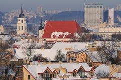 Vilnius town cityscape Stock Images
