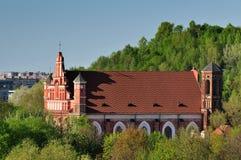 Vilnius town cityscape Stock Image