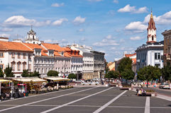 Vilnius Town Hall Square Royalty Free Stock Images