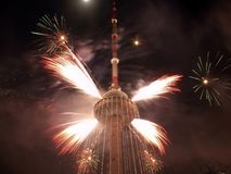 Vilnius TV tower. New year coming to Lithuania. Vilnius TV tower Stock Images