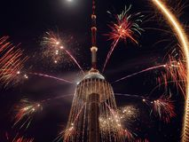 Vilnius TV tower. New year coming to Lithuania. Vilnius TV tower Stock Photography