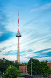 Vilnius TV tower. In the blue sky stock photo