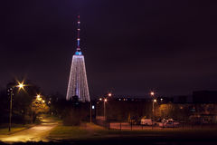 Vilnius tv tower christmas tree Royalty Free Stock Photography
