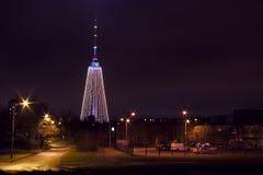 Vilnius tv tower christmas tree. Horizontal image Royalty Free Illustration