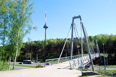 Vilnius tv tower - highest building of lithuanian capital Royalty Free Stock Photography
