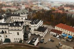 Vilnius twee schuine standverschuiving royalty-vrije stock foto's