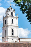 Vilnius universitets Sts Johns kyrkliga Klocka torn Royaltyfria Foton