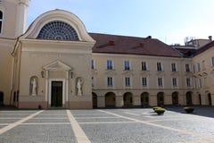 Vilnius University, Lithuania. Inner yard of Vilnius University, Lithuania Stock Photos