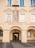 Vilnius university street Royalty Free Stock Photos