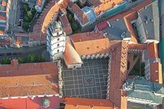 Vilnius uniwersyteta widok z lotu ptaka zdjęcia royalty free