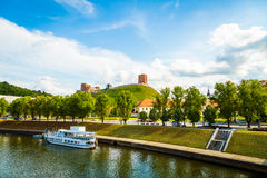 Vilnius Upper Castle with Tower Of Gediminas Stock Image