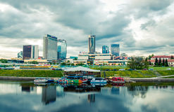 Vilnius urban landscape panorama Stock Photography