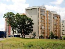 Vilnius vandaag. Nieuwe gebouwen bij pasilaiciai. stock afbeeldingen