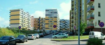 Vilnius vandaag. Nieuwe gebouwen bij pasilaiciai. Stock Foto