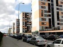 Vilnius vandaag. Nieuwe gebouwen bij perkunkiemis. stock foto