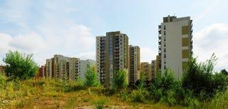 Vilnius vandaag. Nieuwe gebouwen bij perkunkiemis. royalty-vrije stock foto's