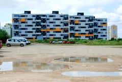 Vilnius vandaag. Nieuwe gebouwen bij perkunkiemis. Royalty-vrije Stock Afbeelding