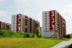 Vilnius vandaag. Nieuwe gebouwen bij perkunkiemis. Stock Fotografie