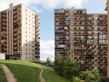 Vilnius vandaag. Nieuwe gebouwen en aard. Stock Afbeeldingen