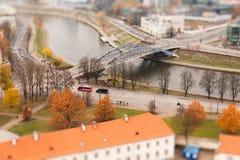 Vilnius vijf schuine standverschuiving stock foto