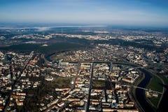 Vilnius - vista aérea imagem de stock