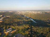 Vilnius von Fernsehturm lizenzfreie stockfotos