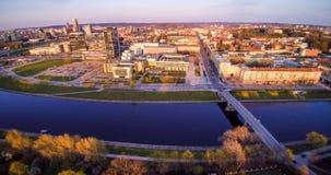 Vilnius von oben Lizenzfreies Stockbild