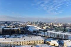 Vilnius in winter royalty free stock image