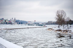 Vilnius in winter Stock Images