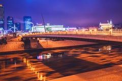 Vilnius winter night time Stock Photos