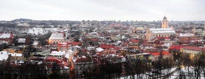 Vilnius Winter Panorama From Gediminas Castle Tower Stock Photography