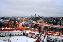 Vilnius Winter Panorama From Gediminas Castle Tower Royalty Free Stock Photo