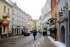 Vilnius zimy panorama Od Gediminas kasztelu wierza Zdjęcia Stock