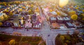 Vilnius Zverynas region. City Vilnius panorama view from above or aerial, Lithuania Royalty Free Stock Photo