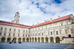 Vilniusuniversiteit, Vilnius, Litouwen Stock Afbeeldingen