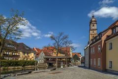 Vils的堤防劈裂,安伯格,德国 免版税库存照片