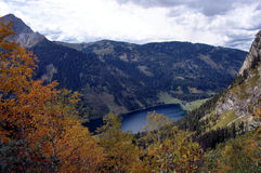 The Vilsalpsee in the Tannheim Valley in Tyrol Stock Images