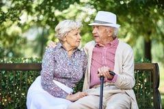 Vilsamma pensionärer Royaltyfria Foton