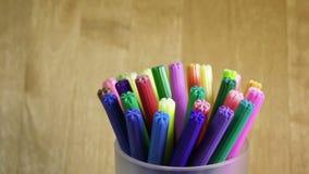 Viltpennen in een steun stock videobeelden