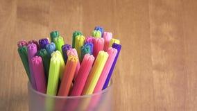 Viltpennen in een steun stock video