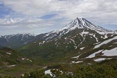 Viluchinskiy volcano. Kamchatka royalty free stock photography