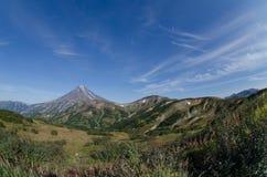 Viluchinsky vulkan Arkivfoto