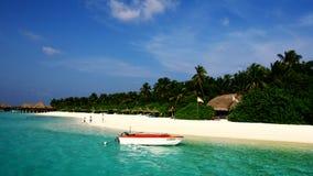 Vilureef海岛在马尔代夫 免版税库存照片