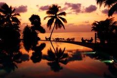 Vilureef海岛在马尔代夫 库存照片