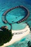 Vilureef海岛在马尔代夫 免版税库存图片