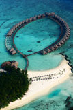 Vilureef island in maldives. Tropical island A pleasant climate Royalty Free Stock Images