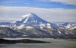 Vilyuchinsky volcano of Kamchatka Peninsula. Stock Image