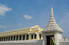 The Viman Thevet Door. A white door of the grand palace, Bangkok Stock Images